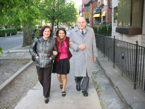 Latvian pianist Liene Circene w pianist Irisa Purene and conductor and composer Arvids Purvs - Toronto, 2010