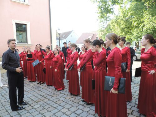 Festival Junger Kunstler Bayreuth, 2013; Latvian Youth Choir BALSIS and Ints Teterovskis. Photo credit: Laura Adlers