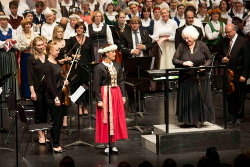 Latvian soprano Inga Slubovska and Conductor Brigita Alks 2014. Photo credit: Janis Tannis